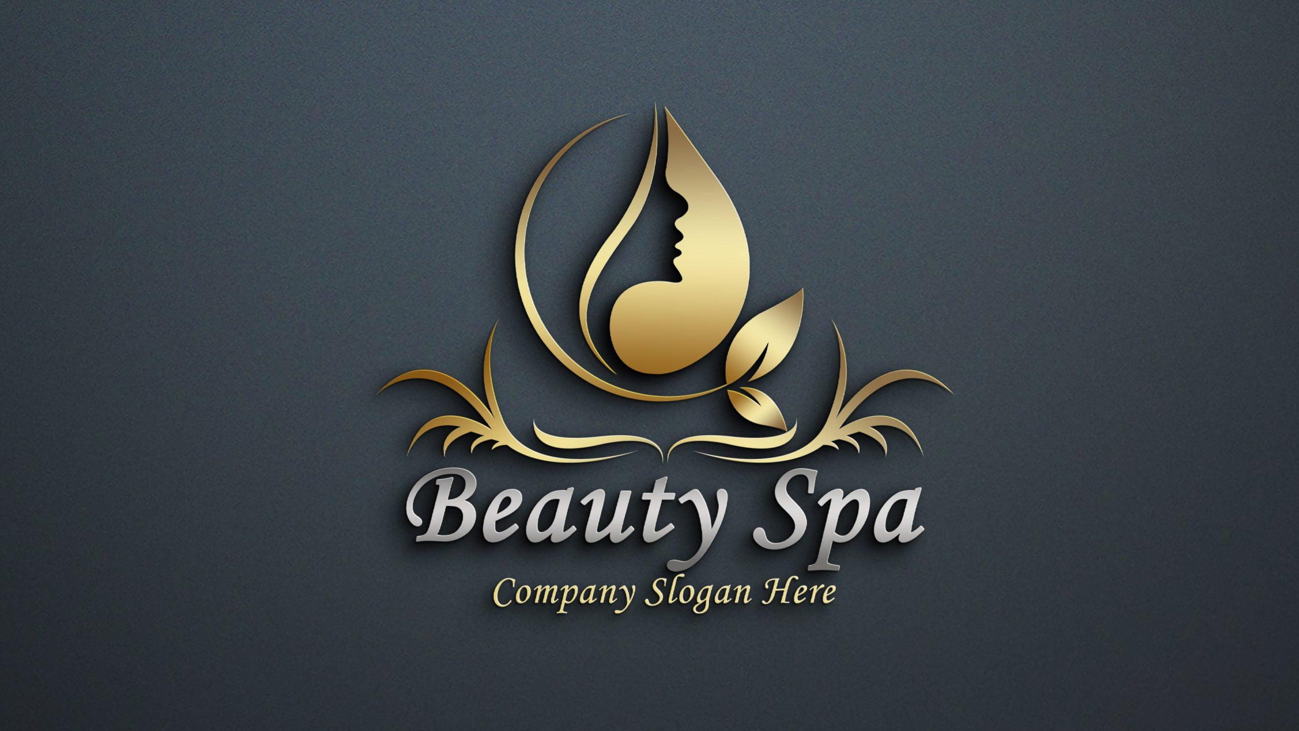 Free Beauty&Spa Logo Design PSD Download