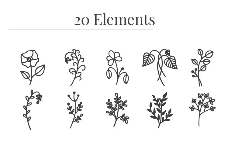Free Botanical Vectors Clipart Bundle Download