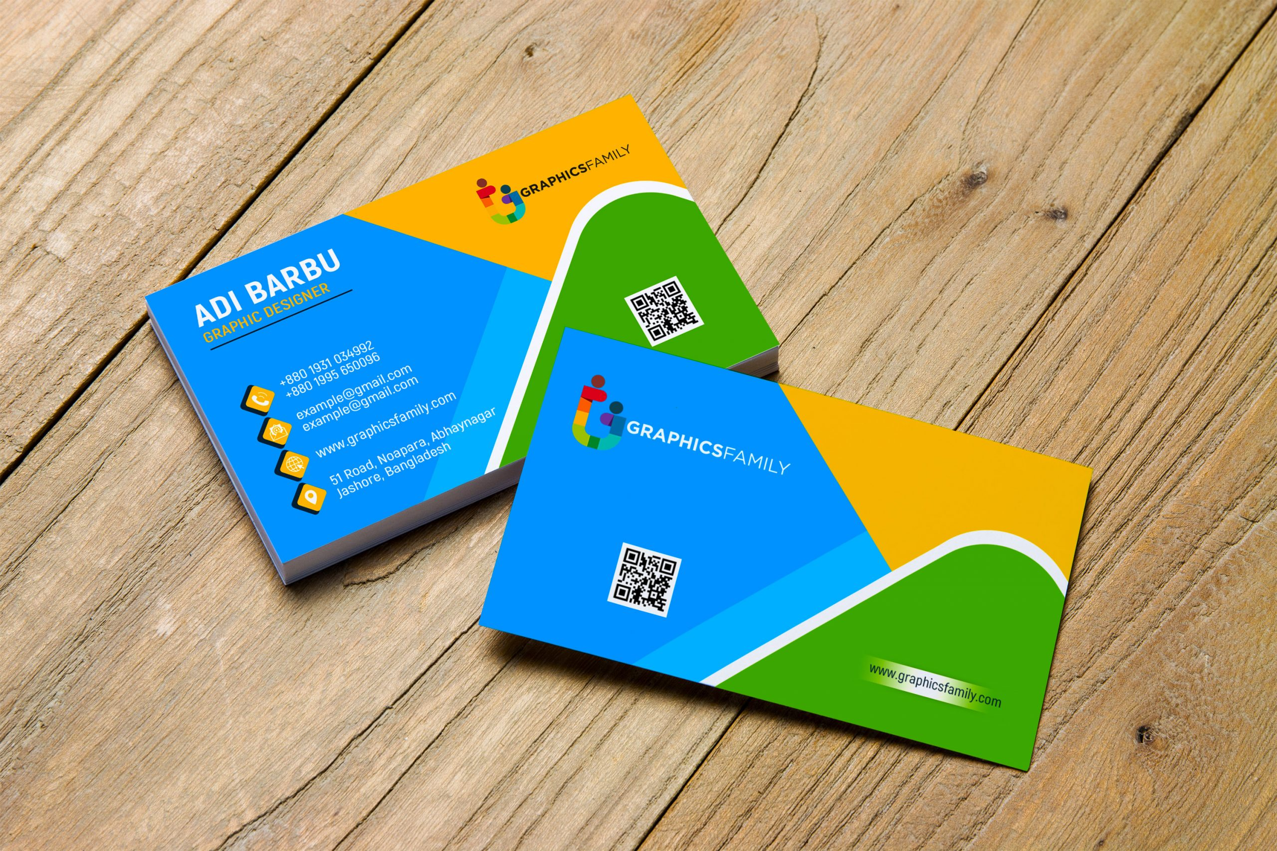Free Colorful Business Visiting Card Design