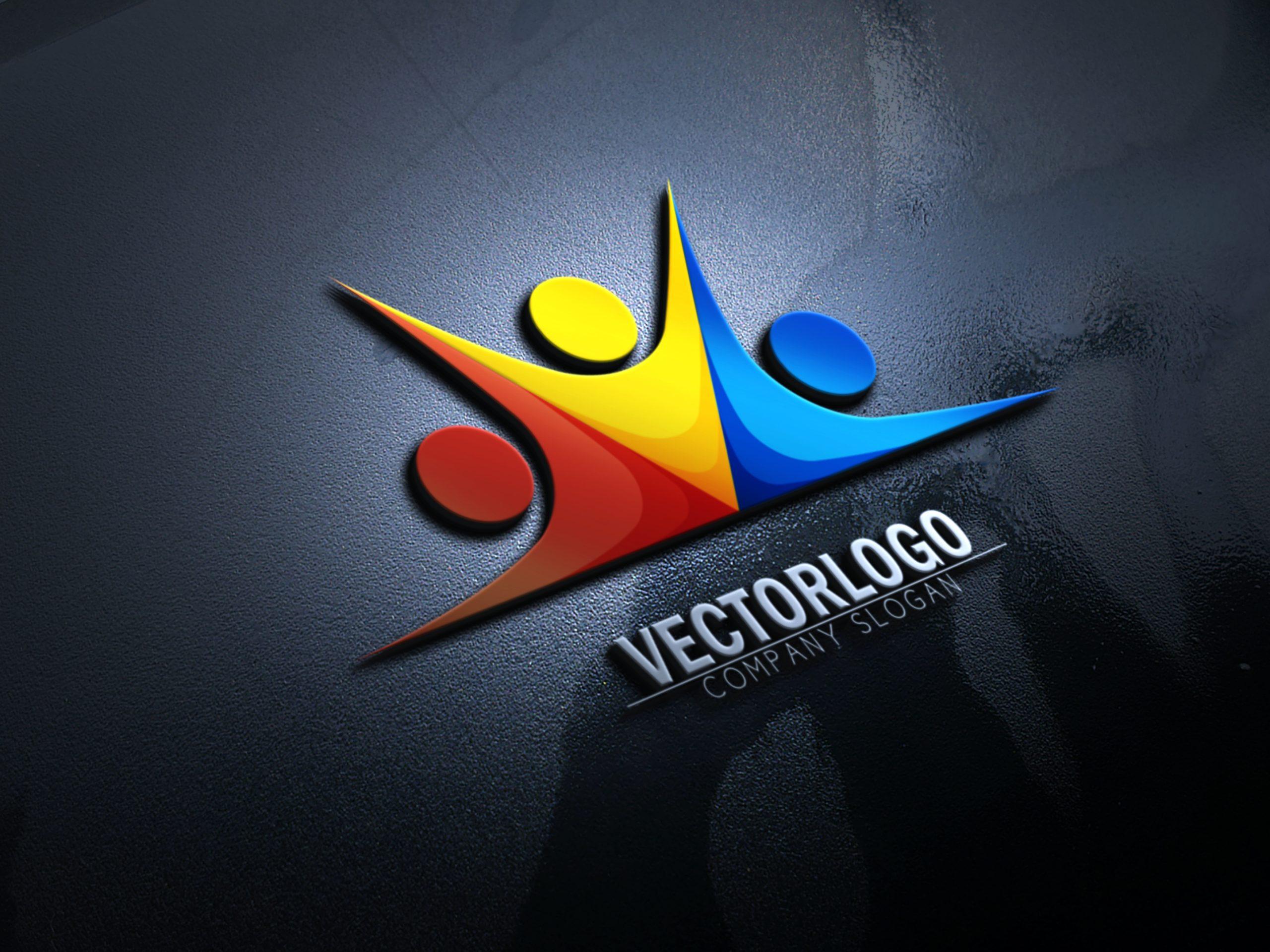 Free-Download-3D-Logo-Mockup
