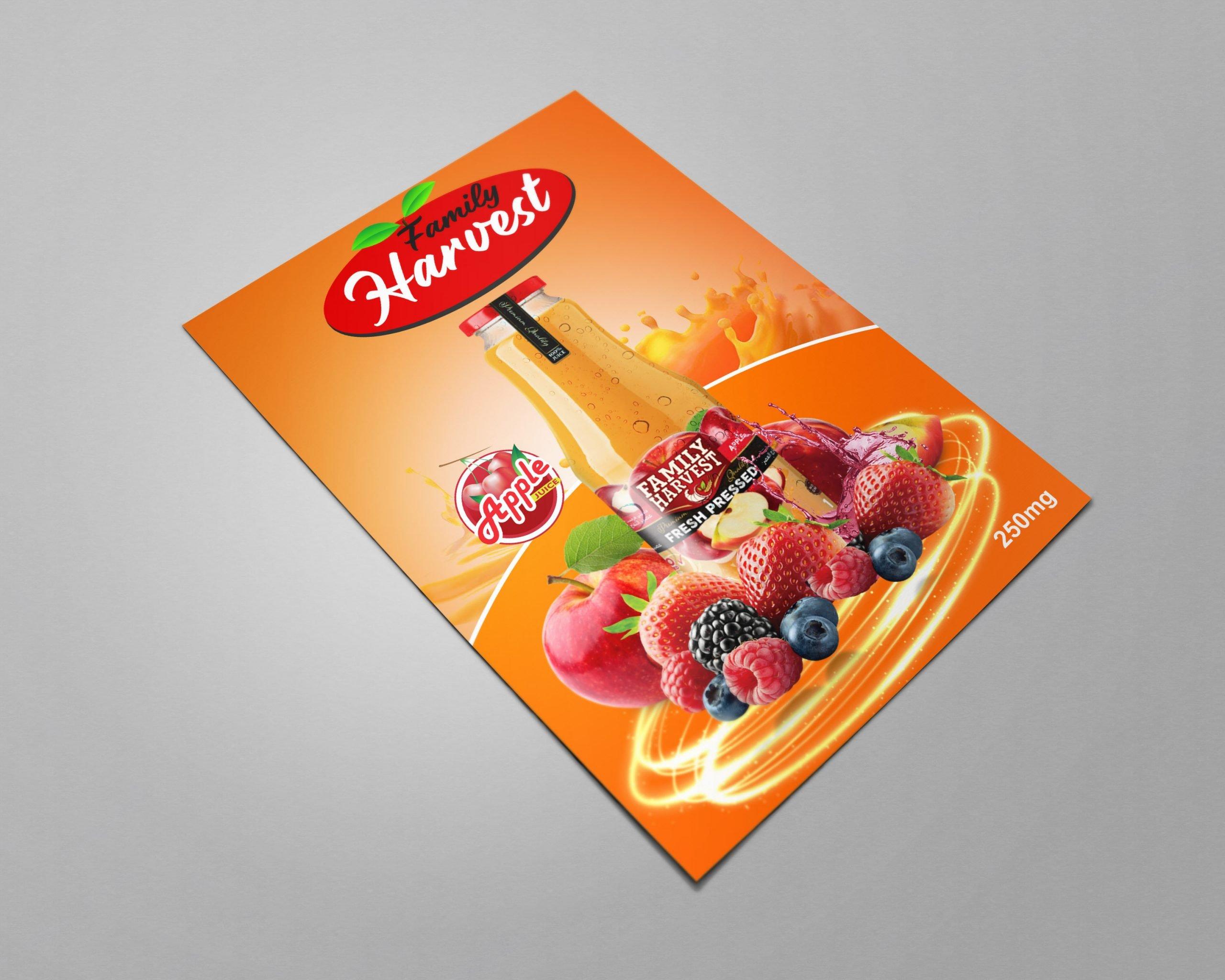 Free Download Editable Bottle Juice Template Design
