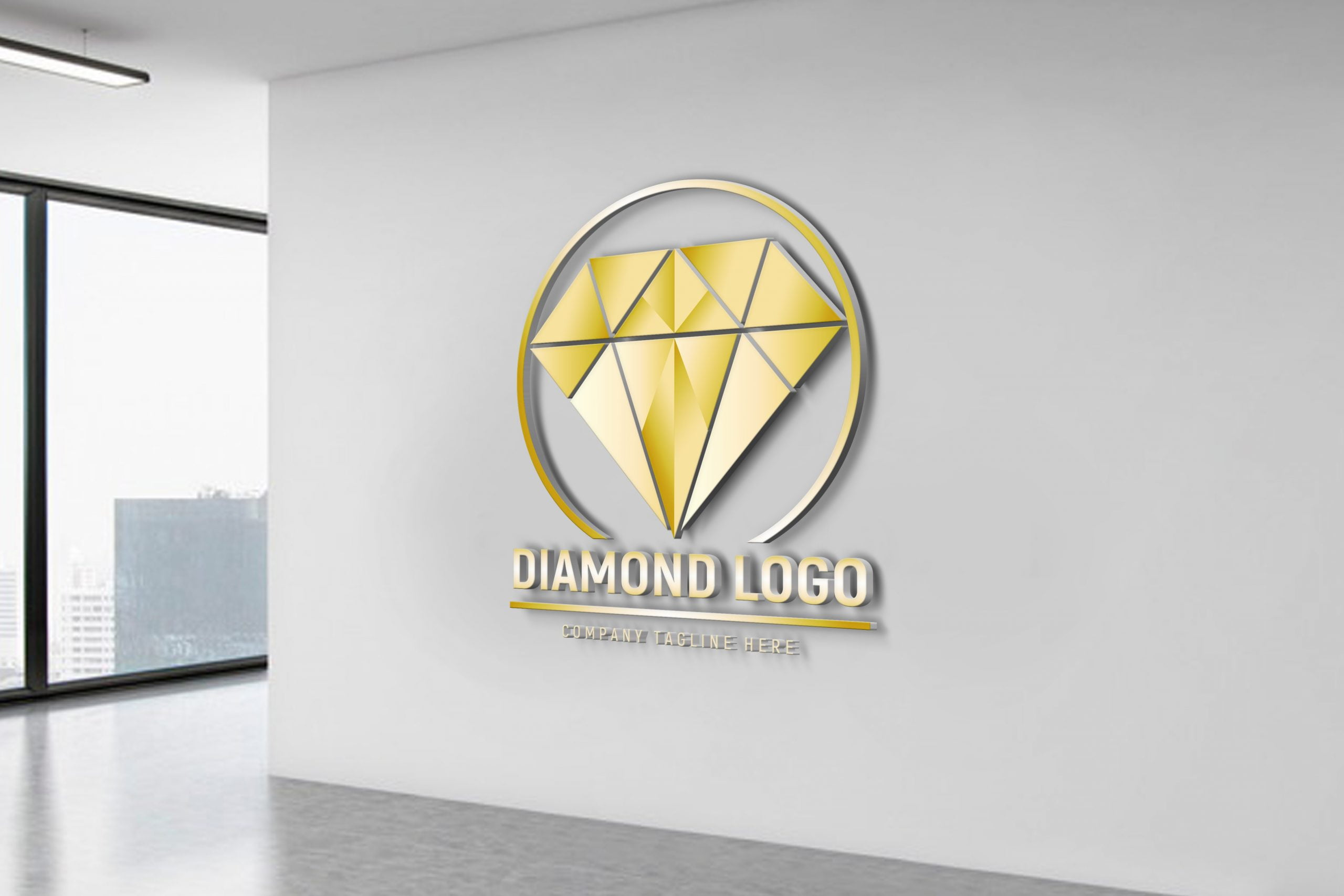 Free Download Editable Diamond Logo Design