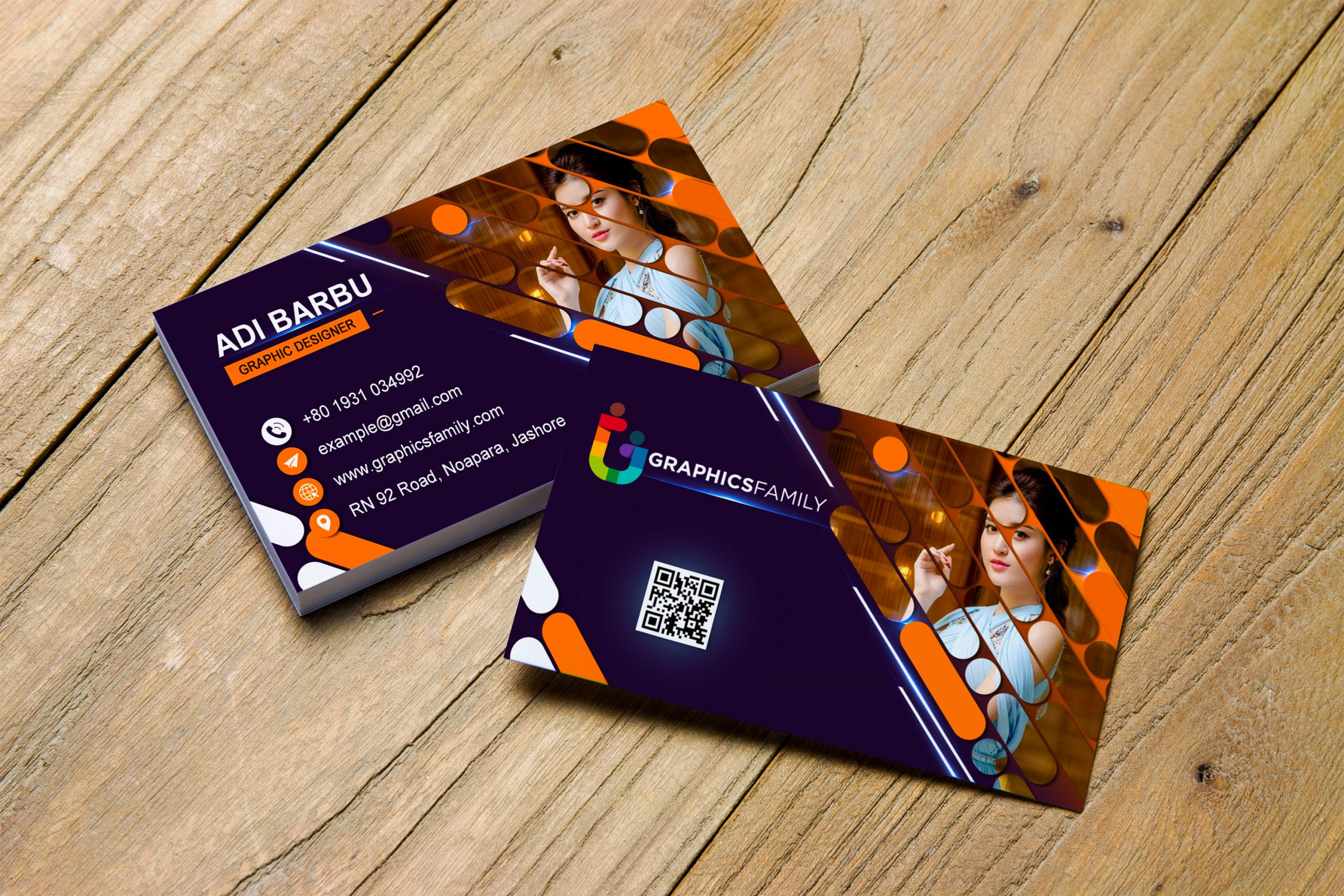 Free Download Modern Editable Visiting Card Design in Photoshop