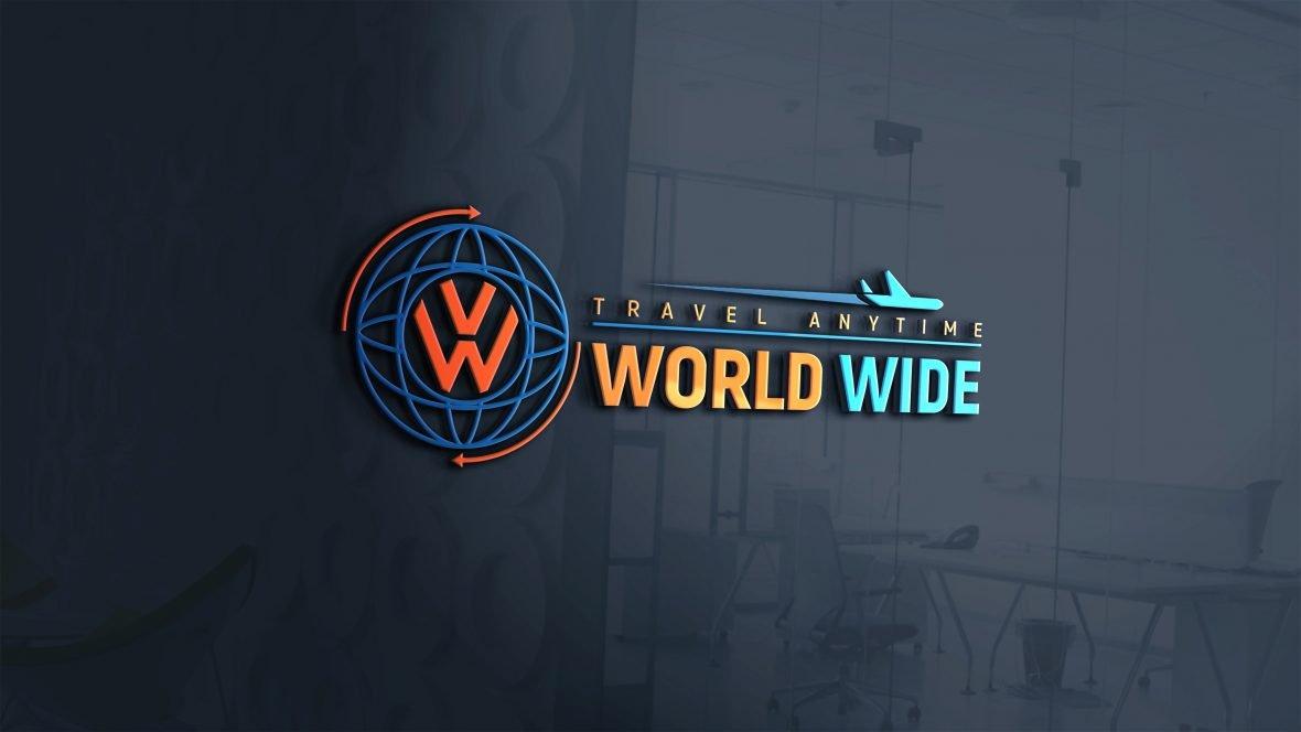 Free Download World Wide Travel Company Logo Design
