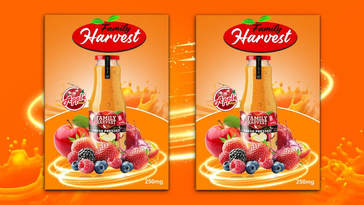 Free Editable Bottle Juice Flyer Template Design