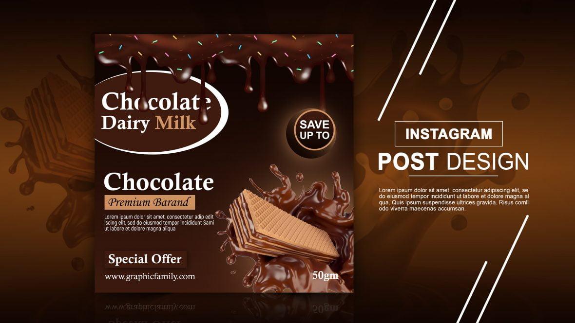 Free Editable Chocolate Instagram Post Design