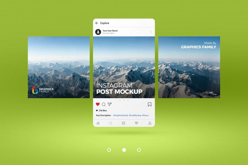 Free Editable Instagram Post Mockup