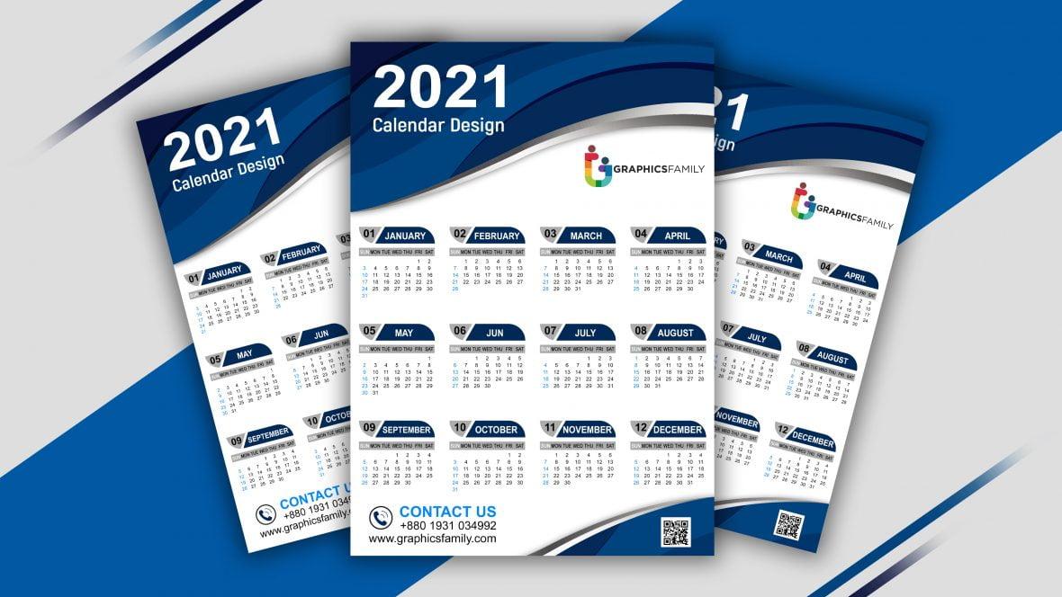 Free Editable Professional Calendar Design for Photoshop