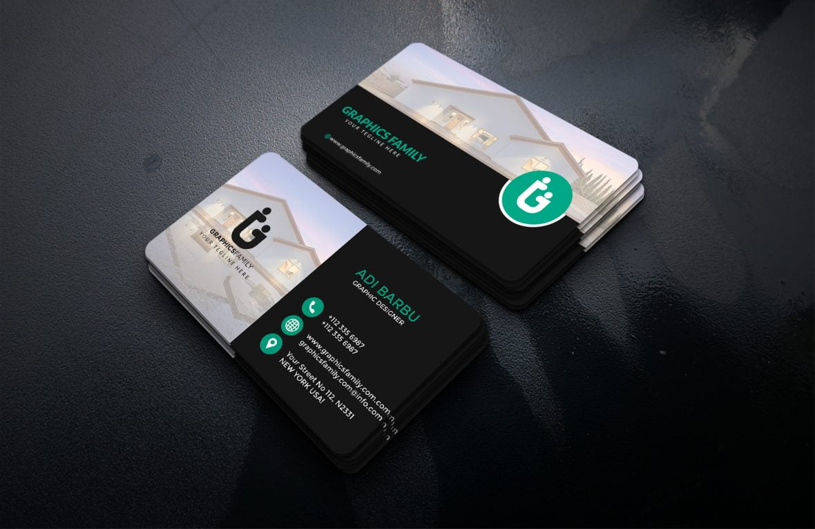 Free Editable Visiting Card Design for Photoshop