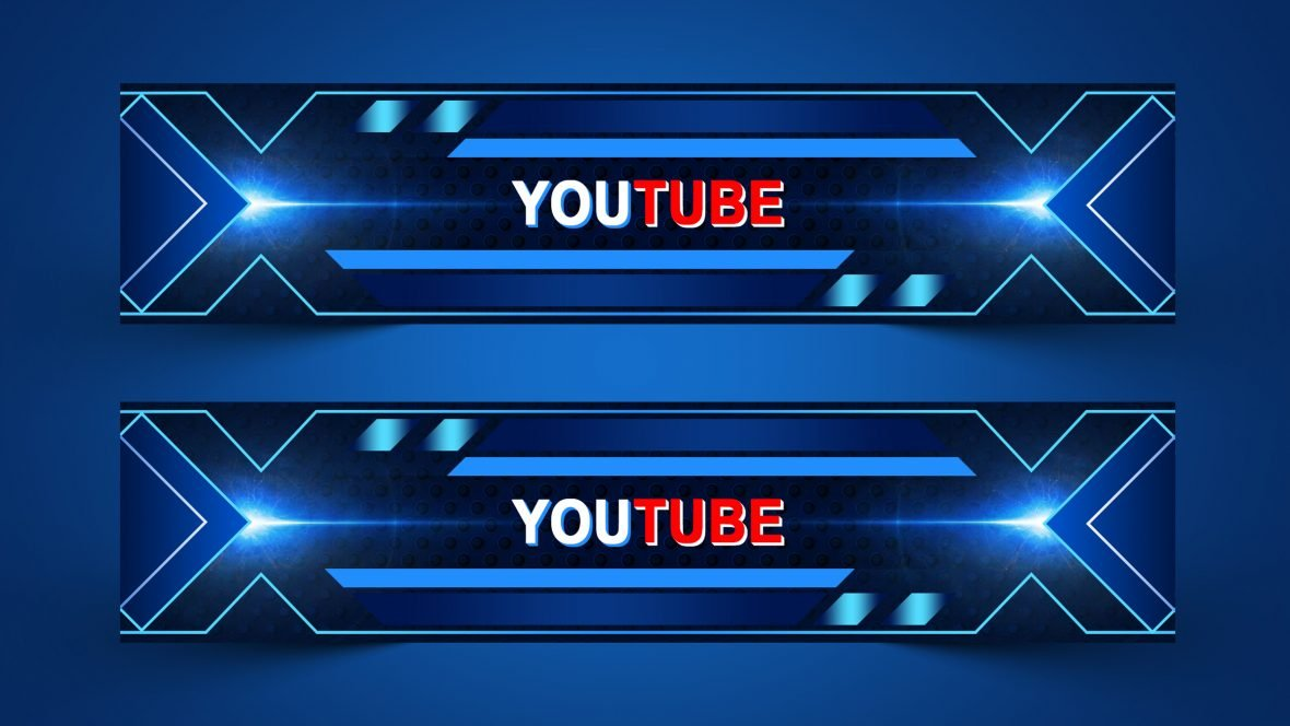 Free Editable YouTube Channel Art Design PSD
