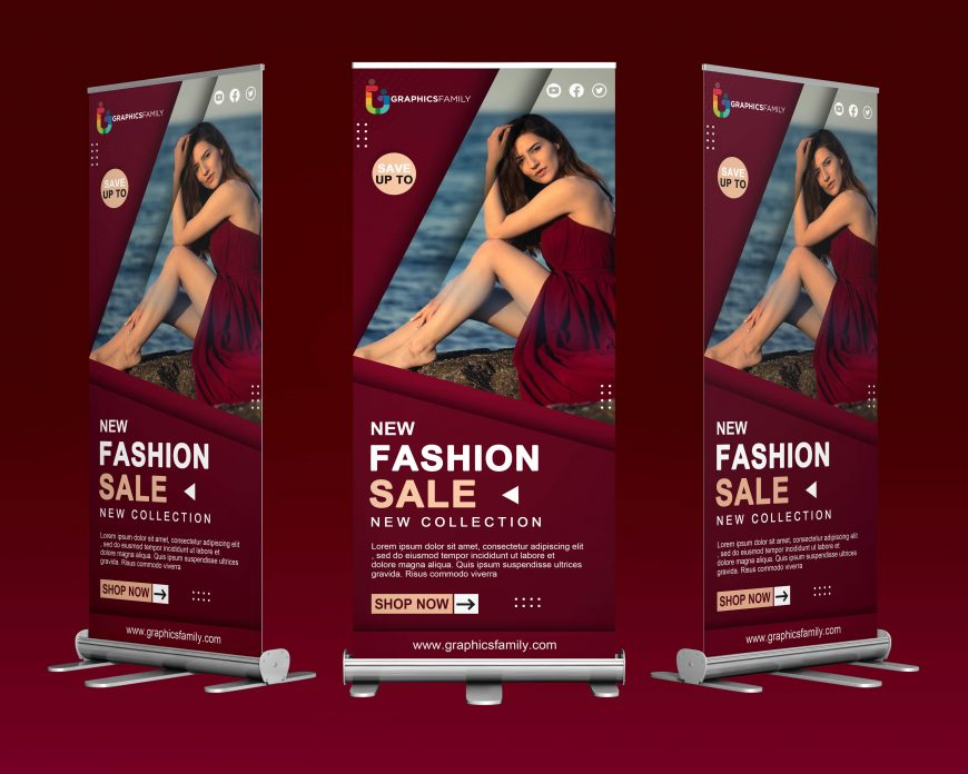 Free Fashion Roll Up Design Template