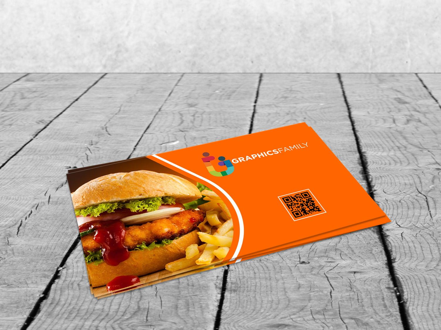 Free Food Company Visiting Card Design