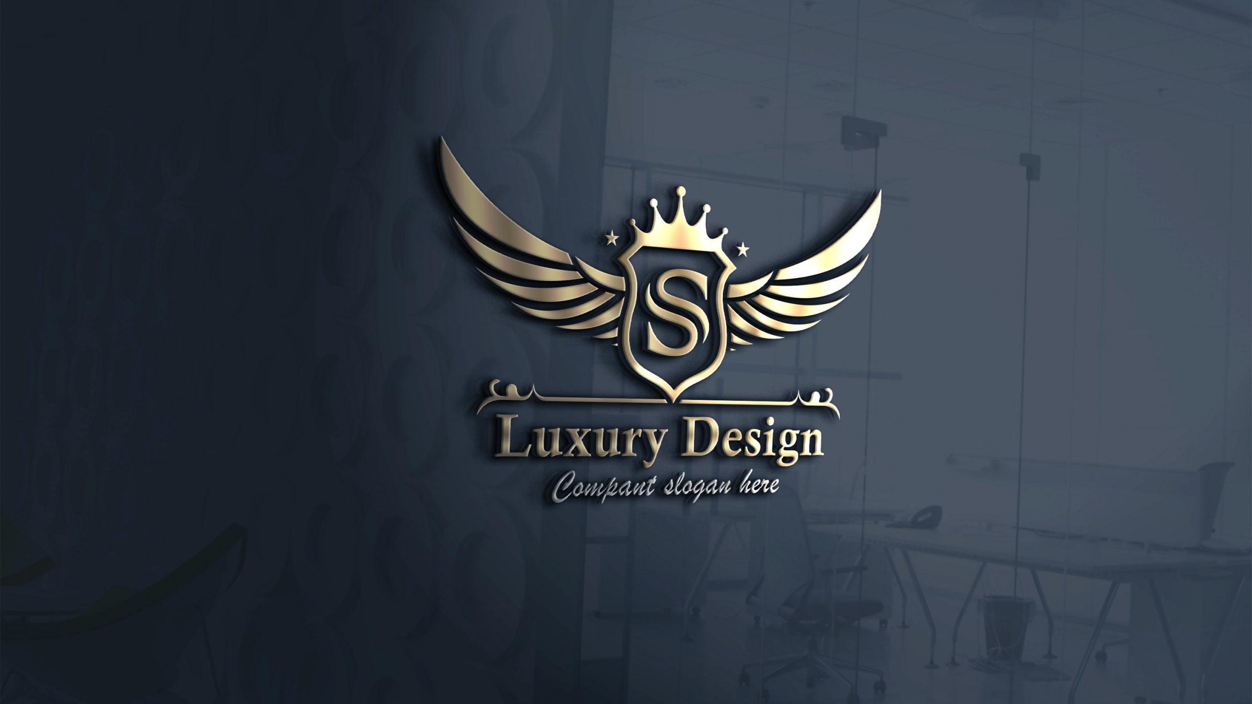 Free Luxurious Royal Logo Template PSD