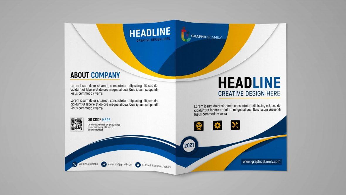 Free Professional Bifold Brochure Design Template