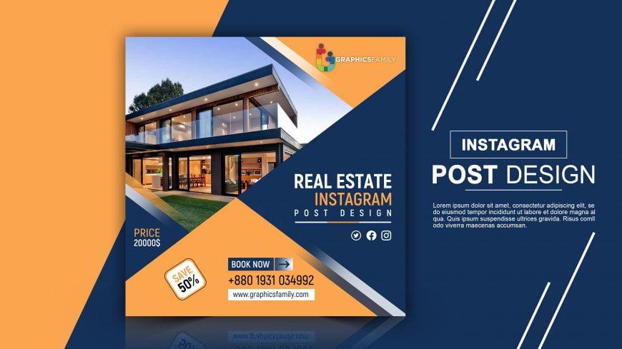 Free Real Estate Instagram Post Design