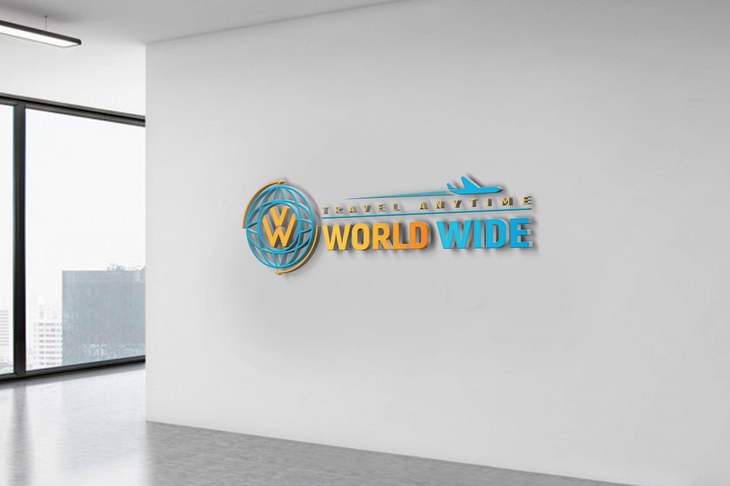 Free World Wide Travel Company Logo Design
