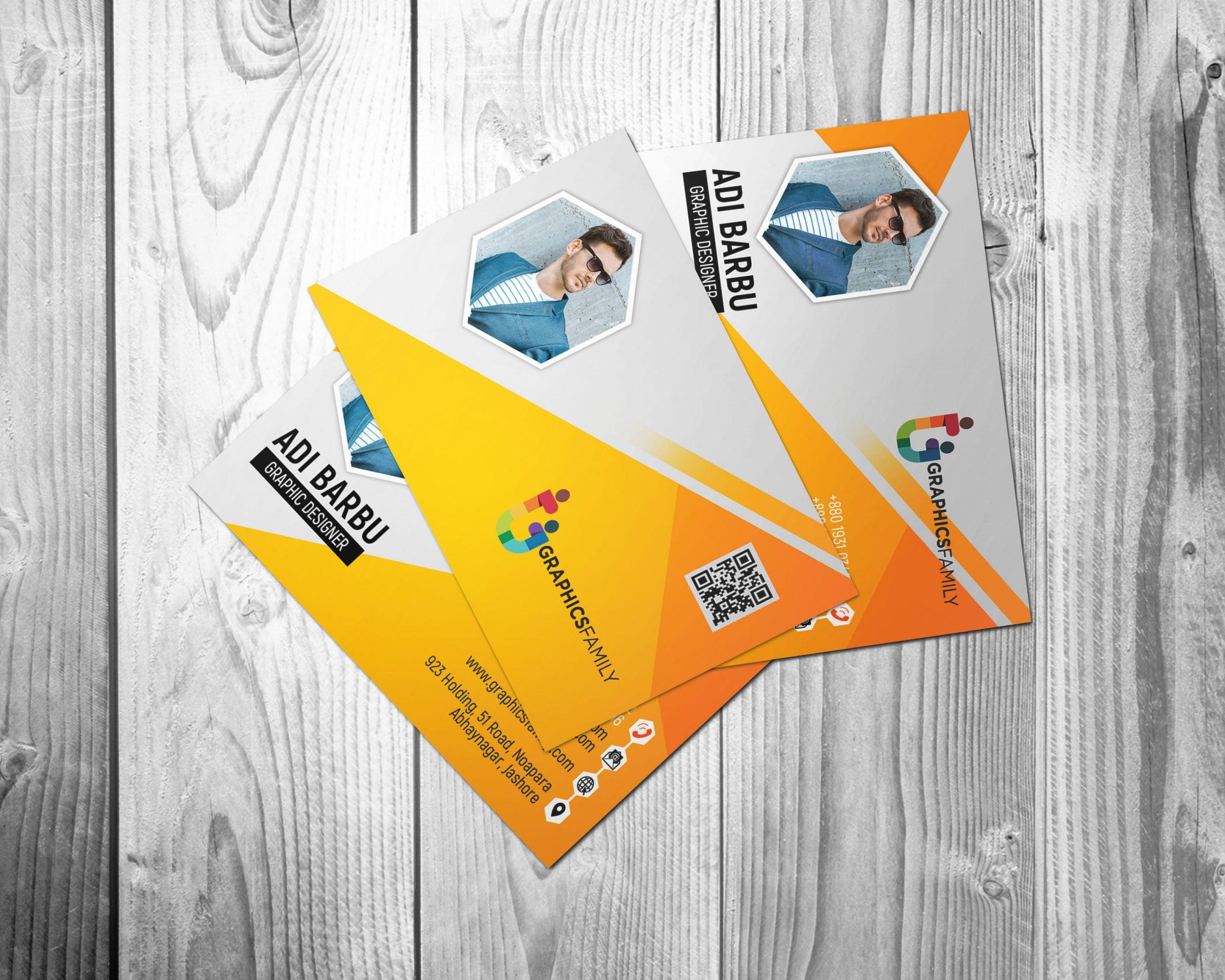 Free Yellow Visiting Card Design