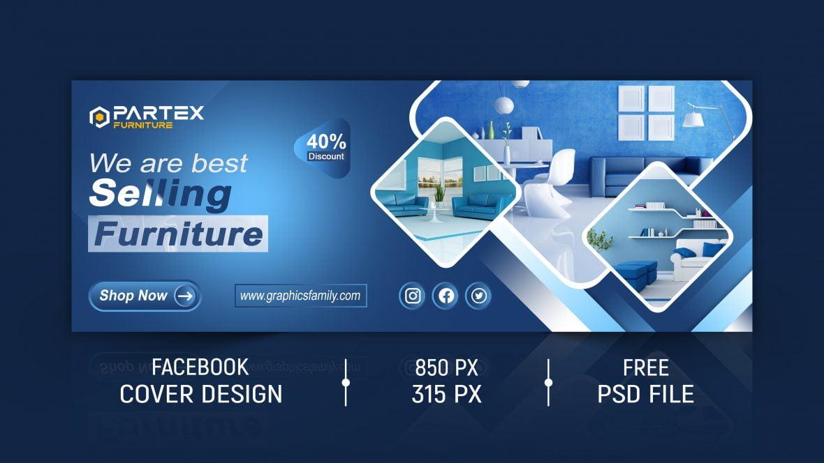 Furniture Store Editable Facebook Cover Design