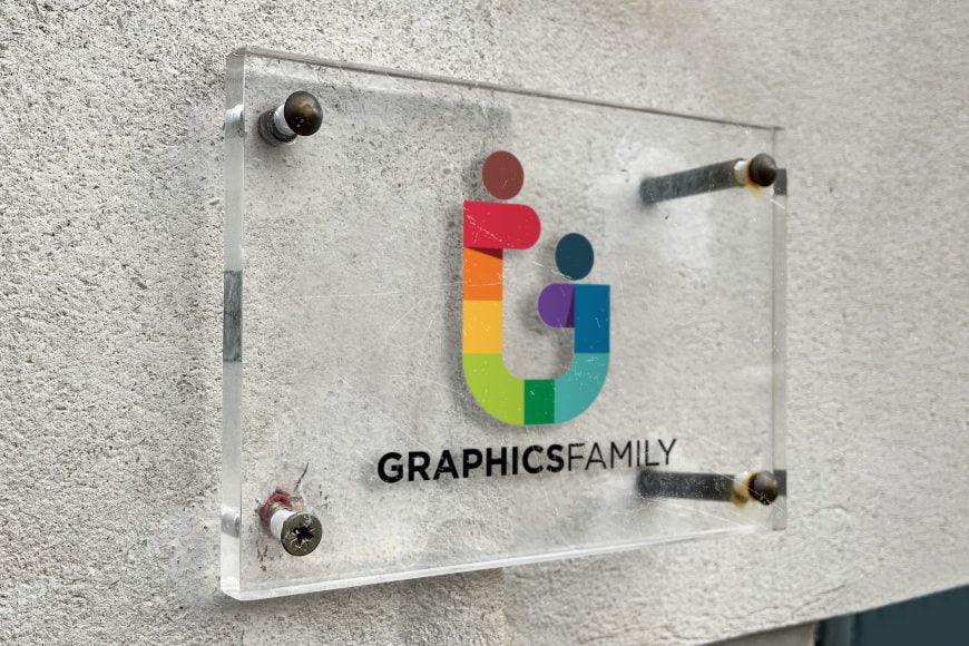 Glass Board Logo Mockup