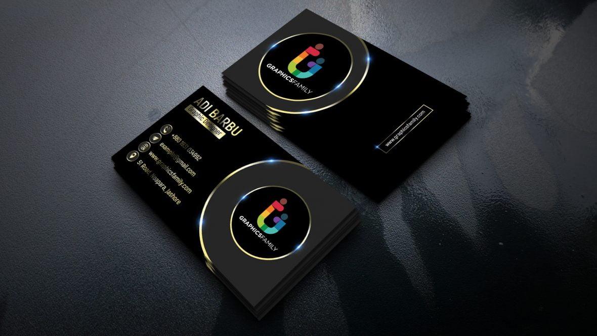 Gold PSD Visiting Card Design