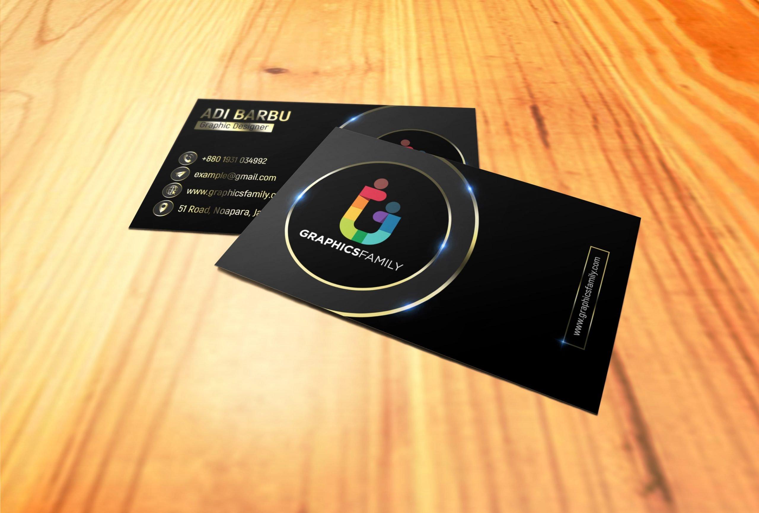 Gold PSD Visiting Card Design Download