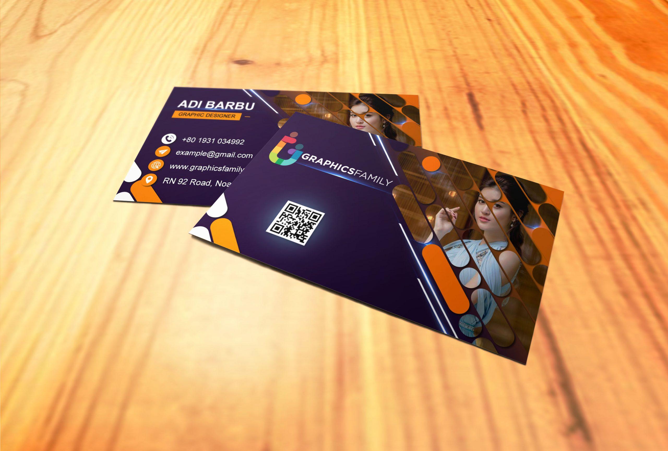 Modern Editable Visiting Card Design in Photoshop Download