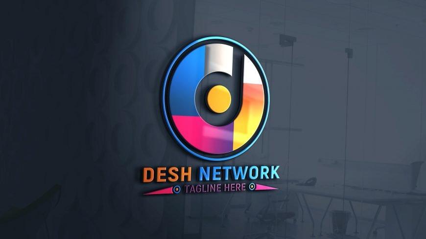 Photoshop Editable Network Logo Design