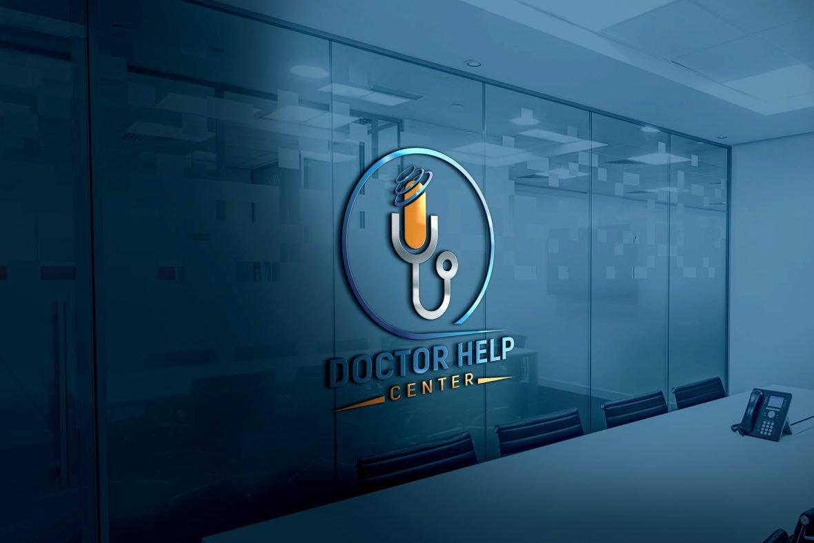 Photoshop Template Doctor Help Center Logo Design