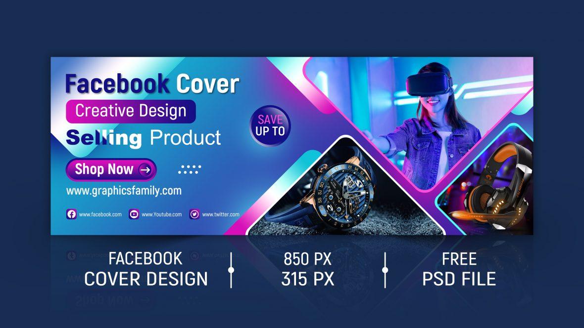 Product Sale Facebook Cover Design PSD