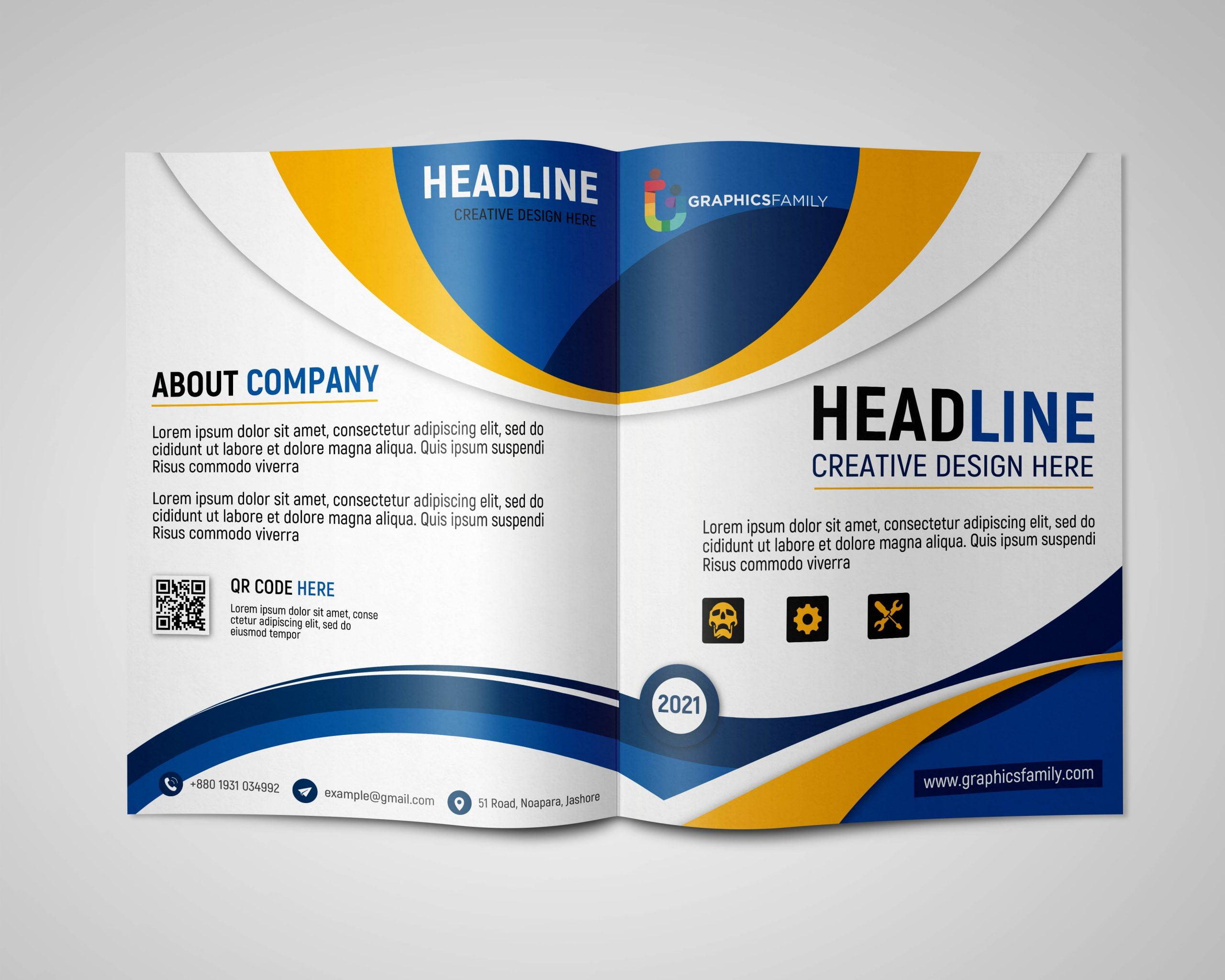 Professional Bifold Brochure Design Template Download