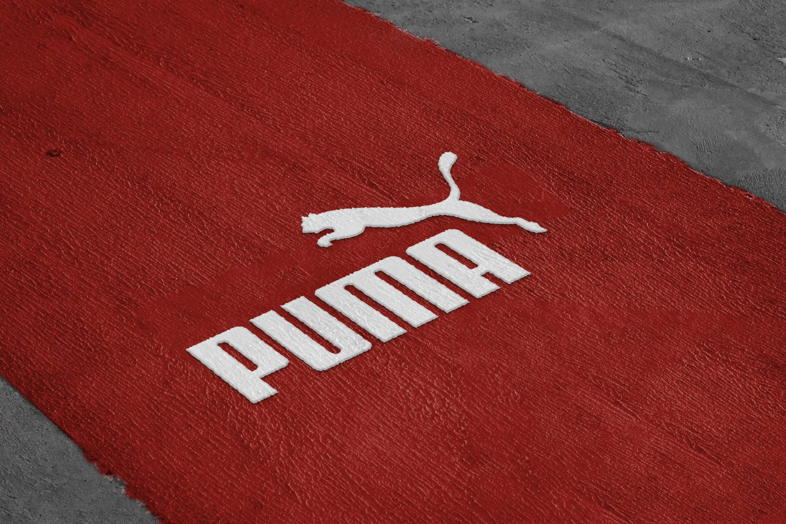 Road Paint Logo Mockup in Photoshop