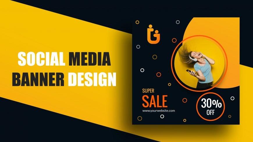 Sale Social Media Banner Design Vector Template