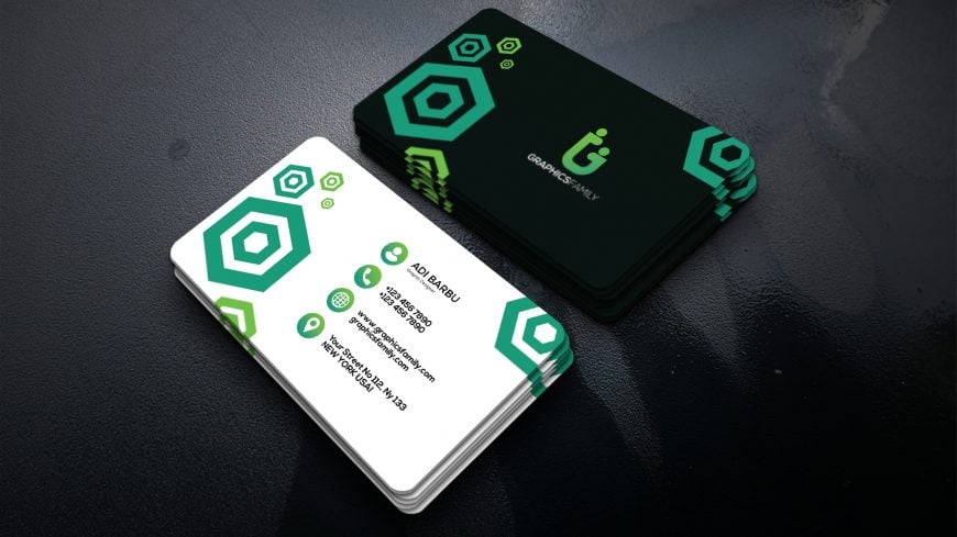 Simple Visiting Card Design in Photoshop