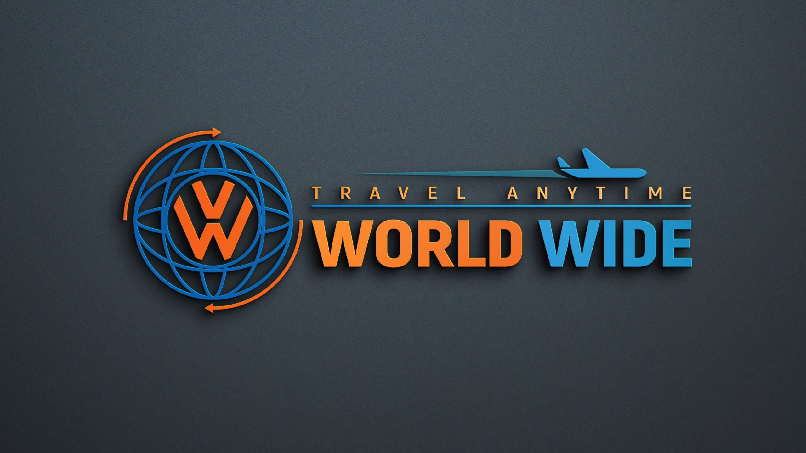 World Wide Travel Company Logo Design Download