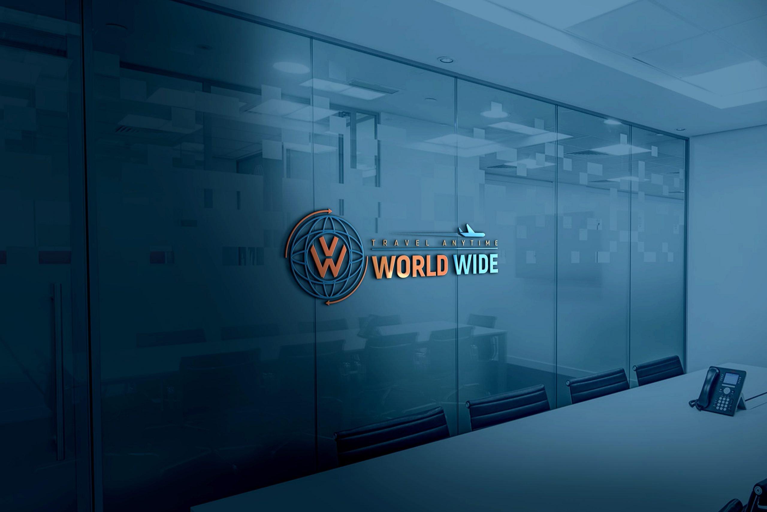 World Wide Travel Company Logo Design
