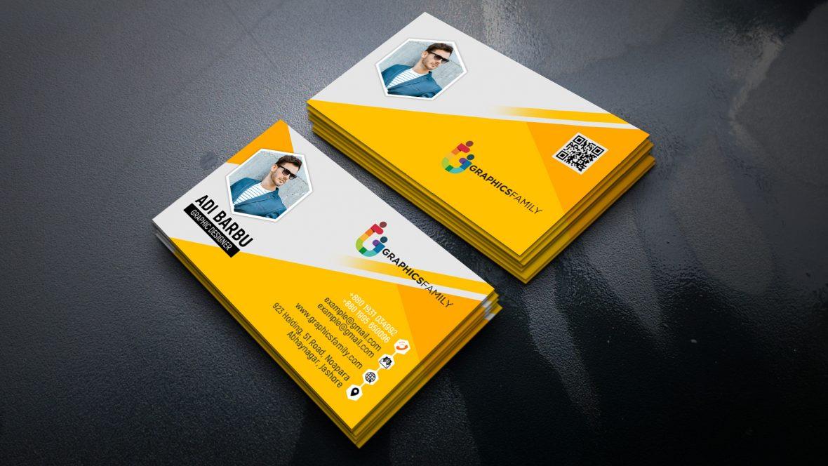Yellow Visiting Card Design