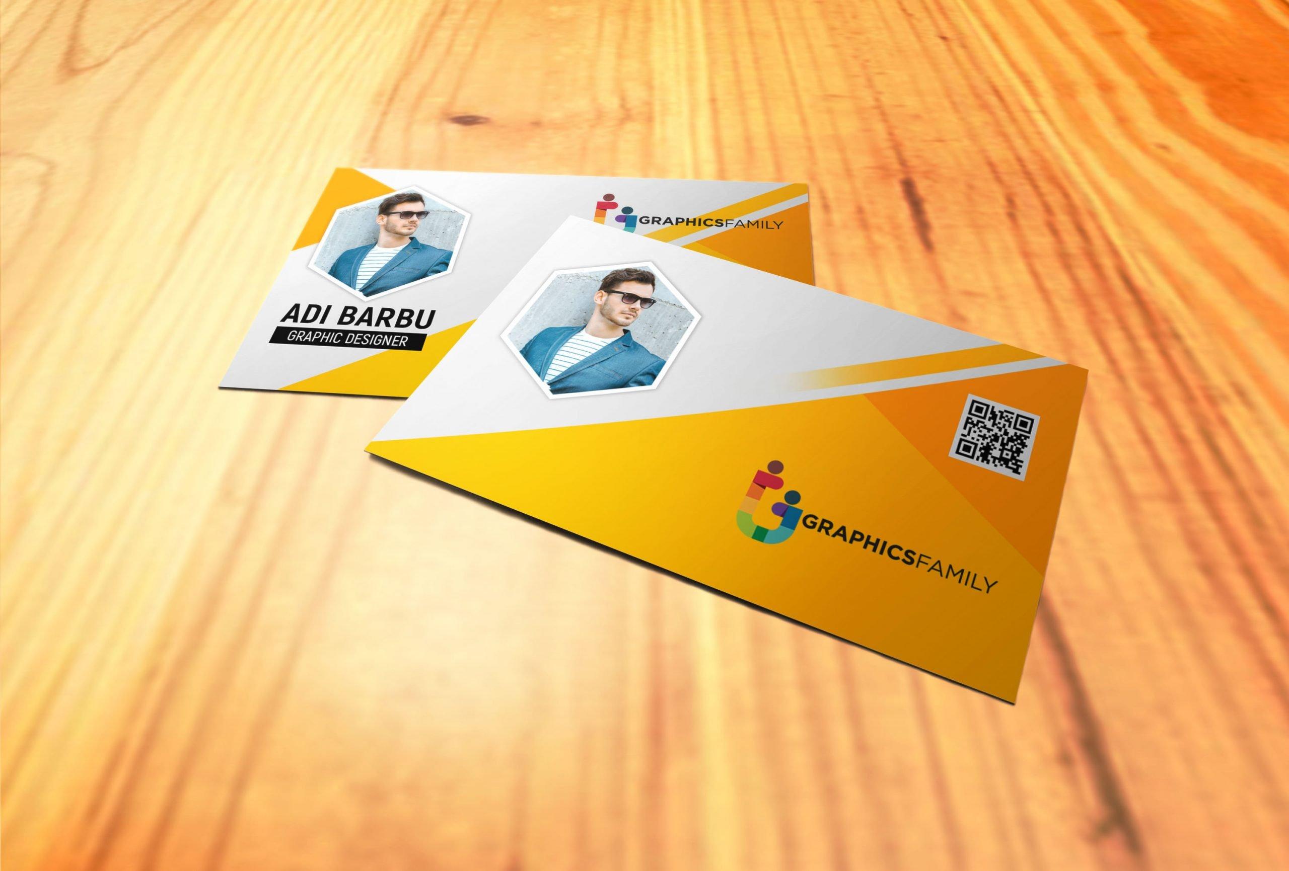 Yellow Visiting Card Design Download