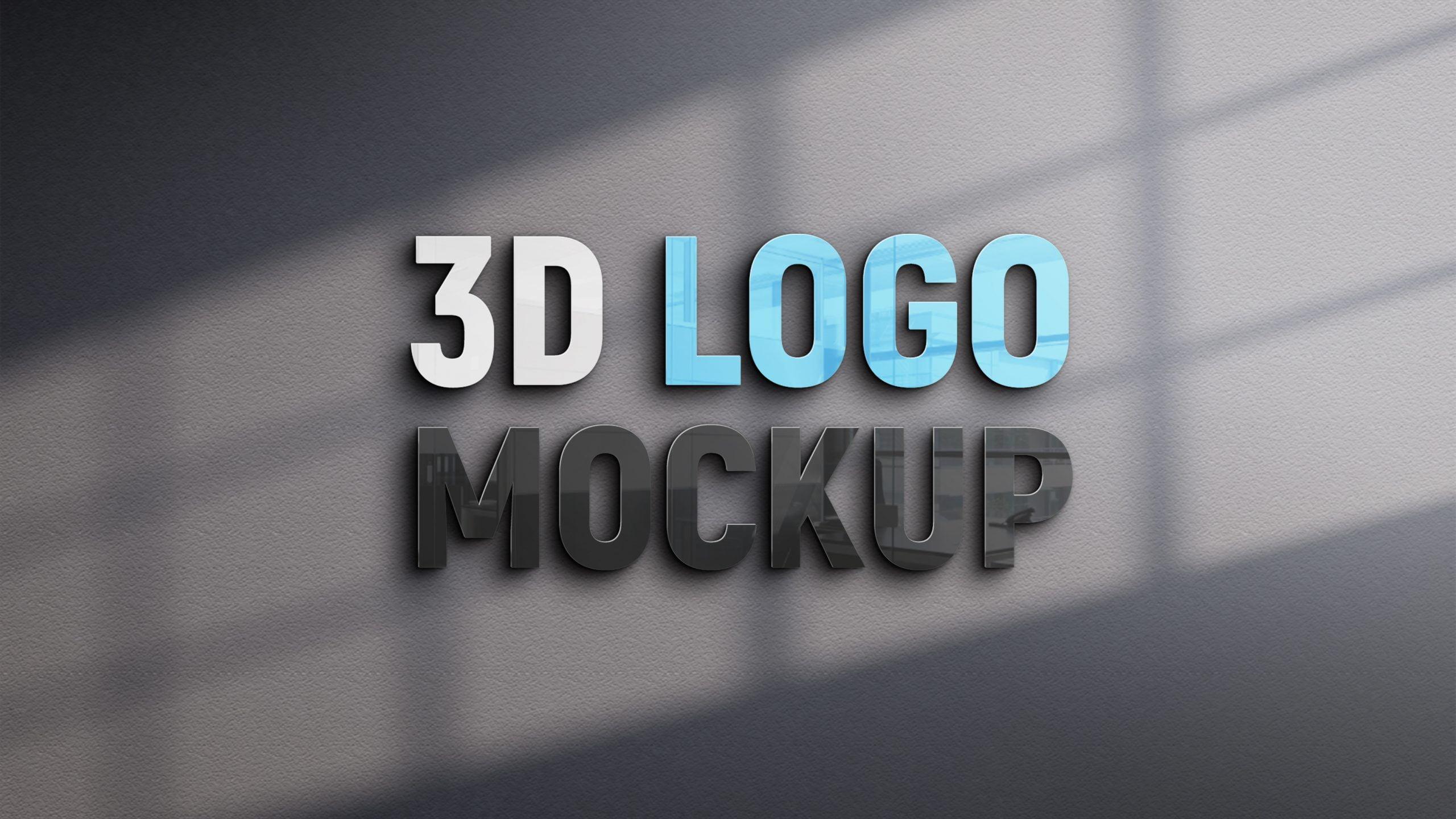 3D Logo Mockup Design
