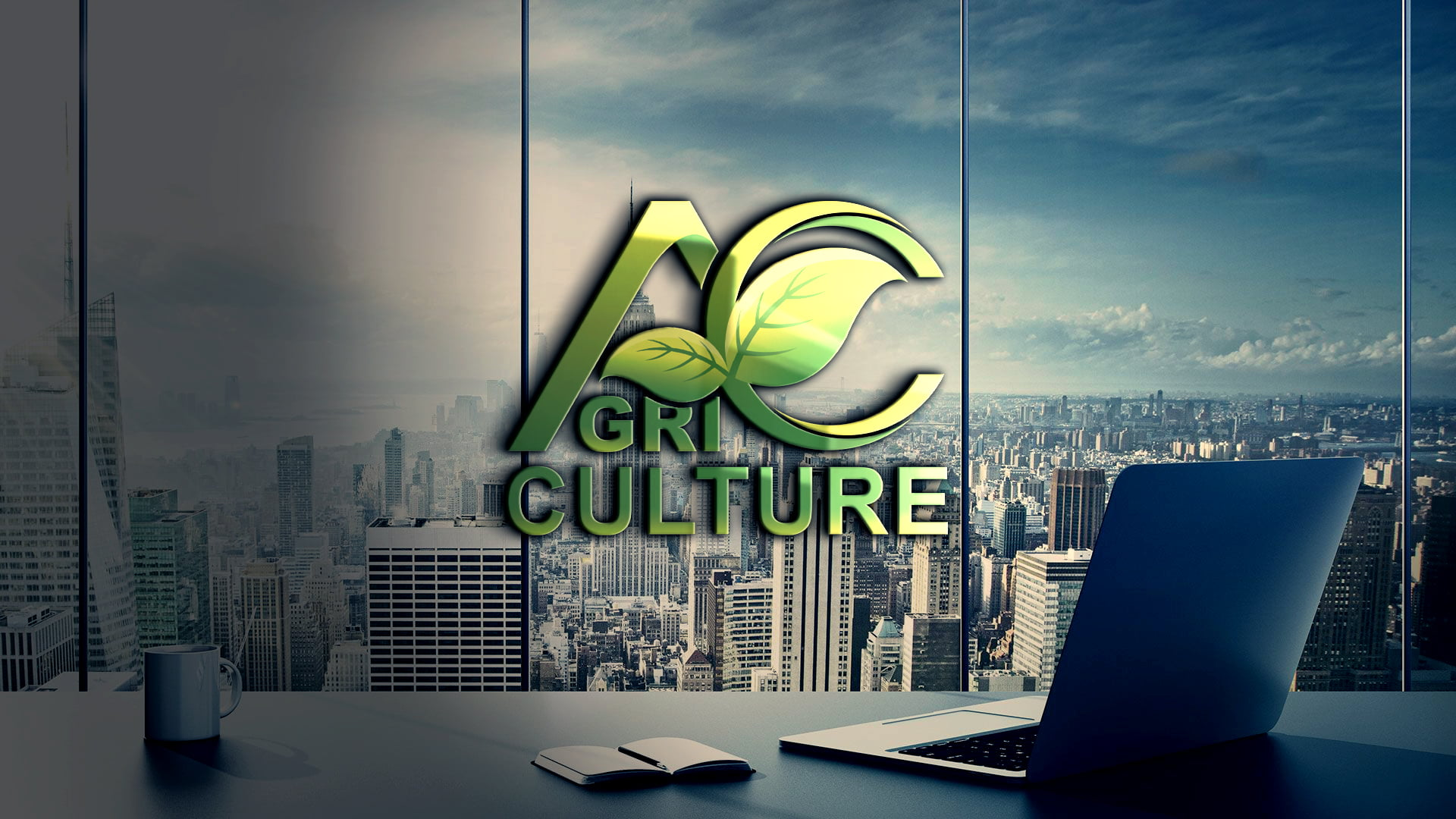 Agriculture Logo Design Template Free PSD