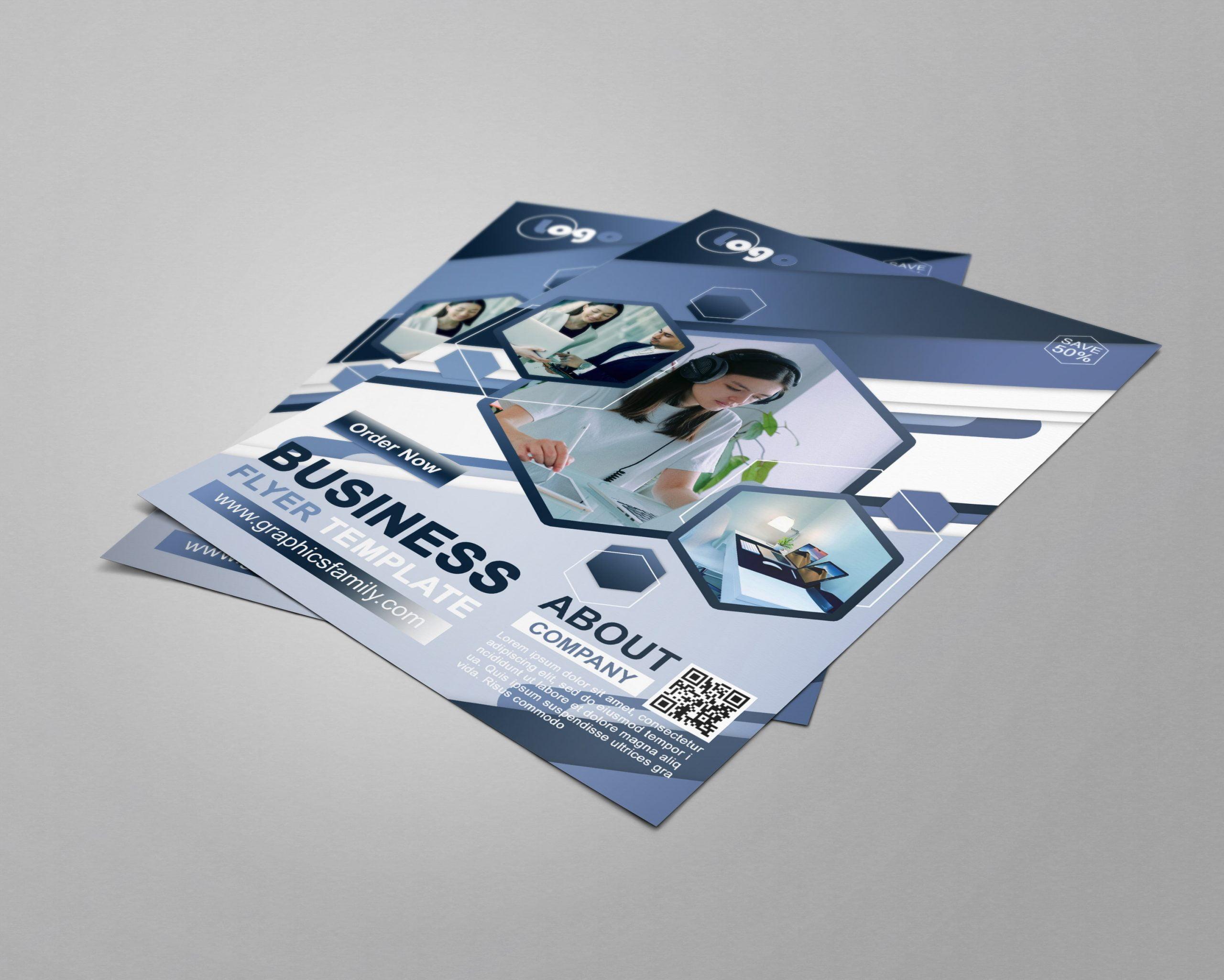 Business Flyer Design PSD Source