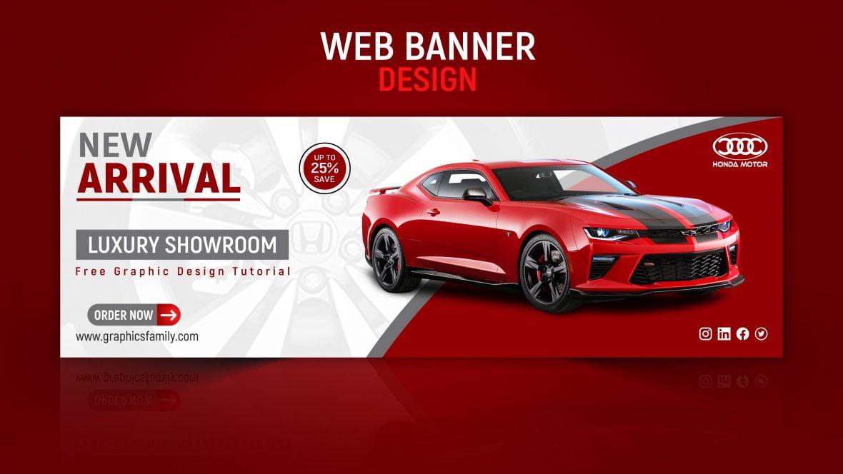 Car Dealer or Showroom Editable Banner Design Template