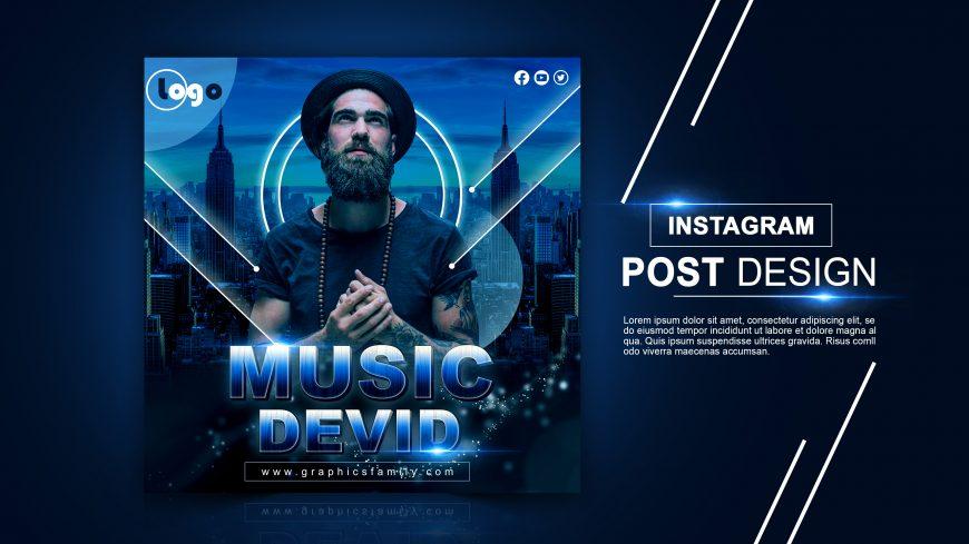 Cinematic Instagram Post Design PSD