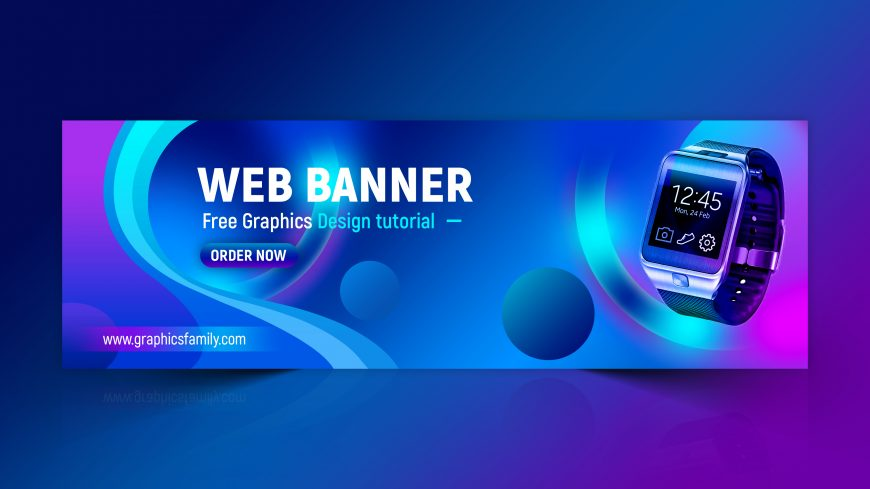 Colorful Web Banner Design Template