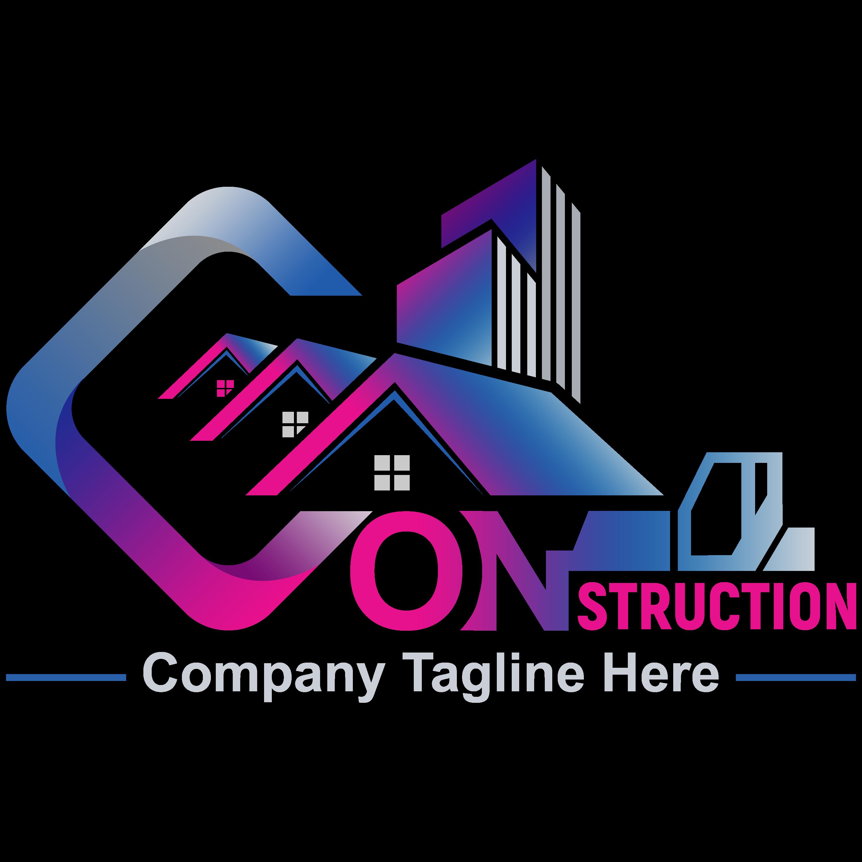Construction Company, Contractor, Handyman Logo Design PNG Transparent
