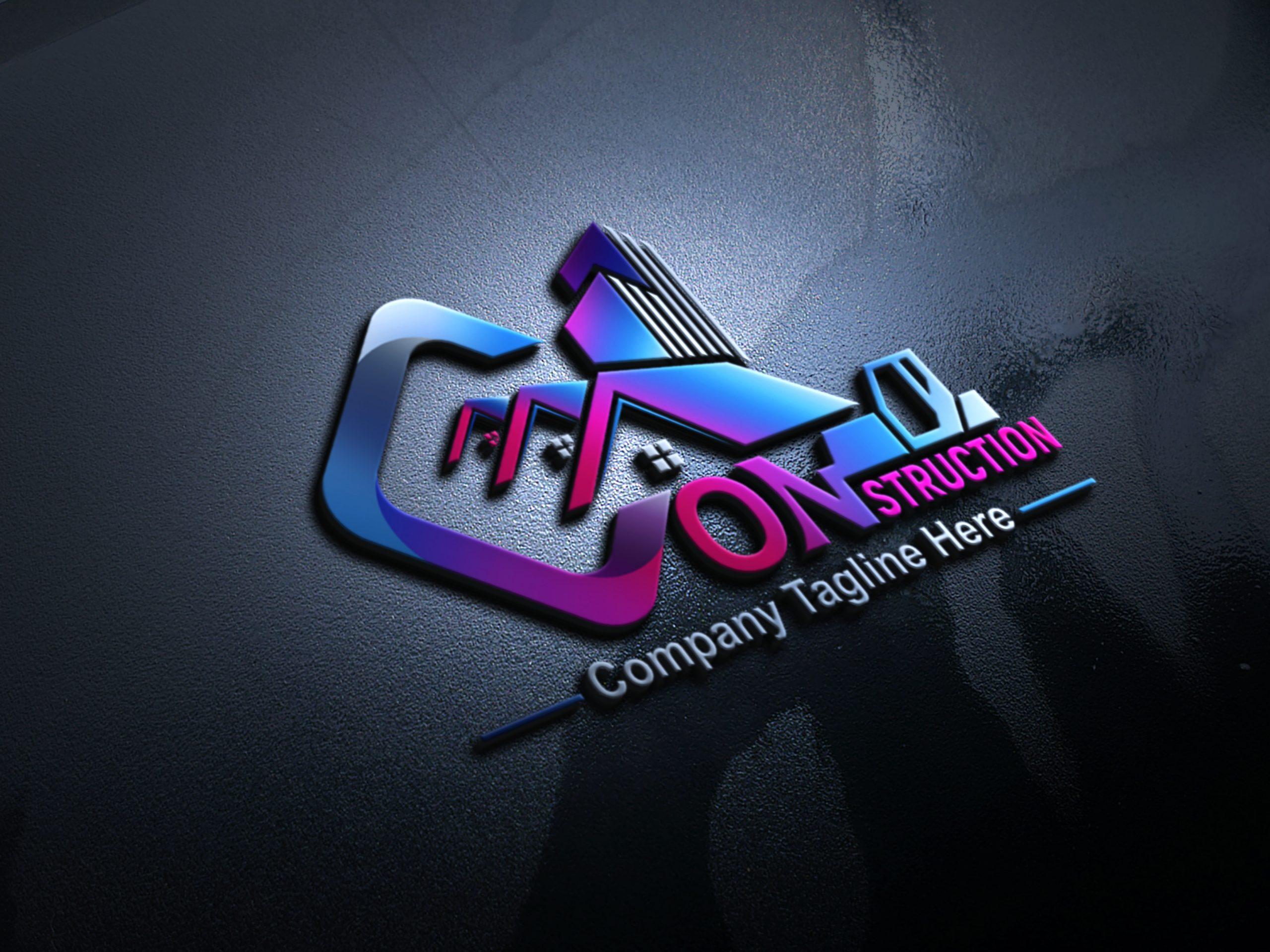 Construction Company, Contractor, Handyman Logo Design PSD Source