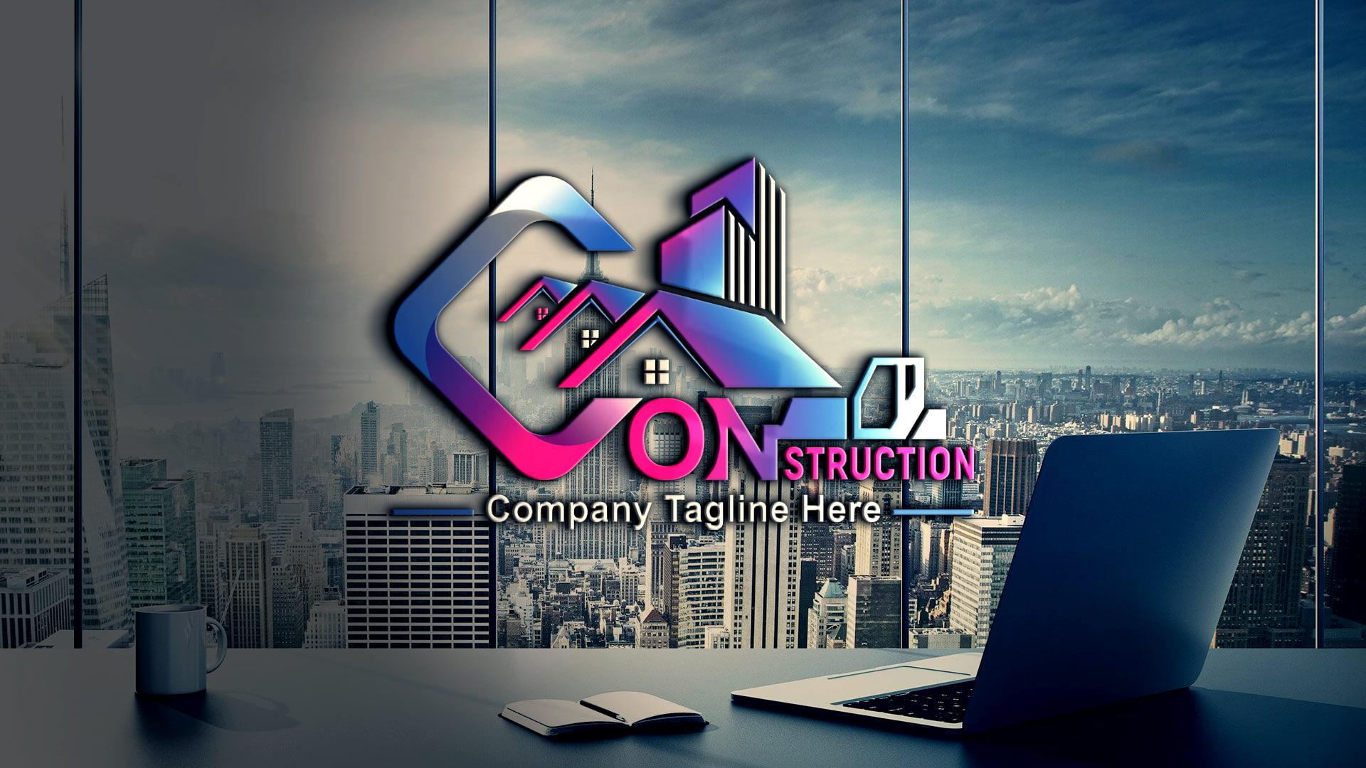 Construction Company, Contractor, Handyman Logo Template Download