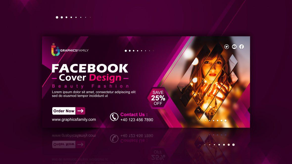 Cosmetics, Fashion & Beauty Facebook Cover Design