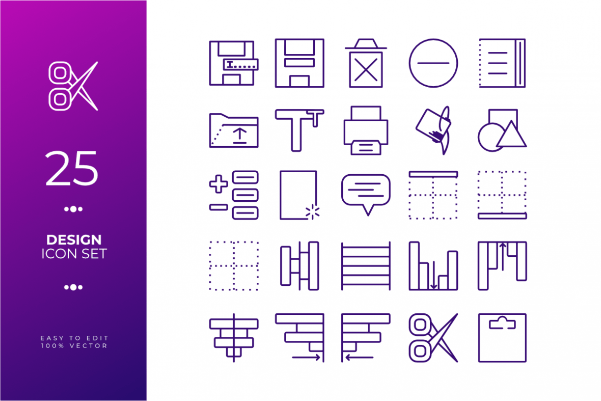 Design icon set