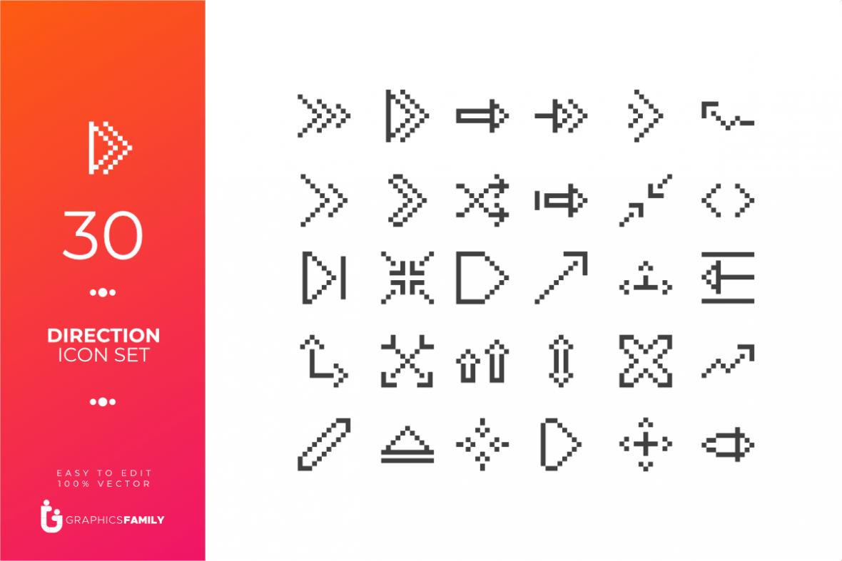 Direction Icon Set