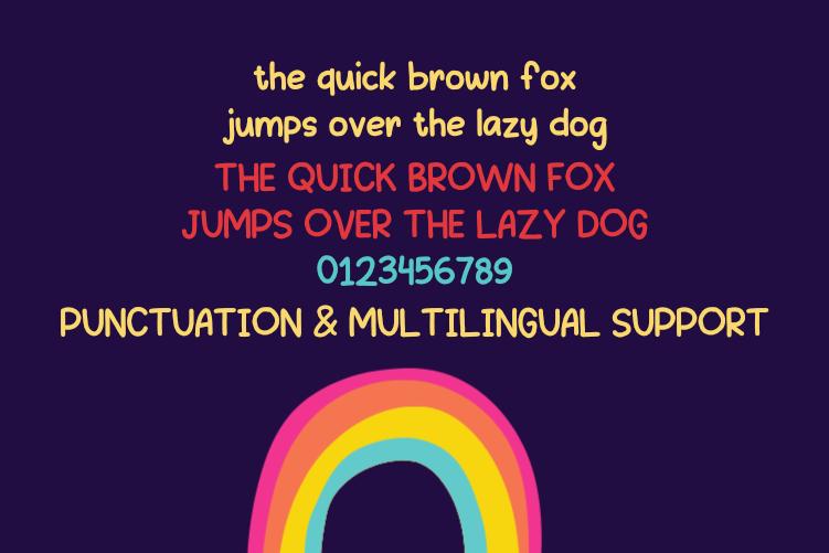 Drawing-Rainbow Font .TTF download